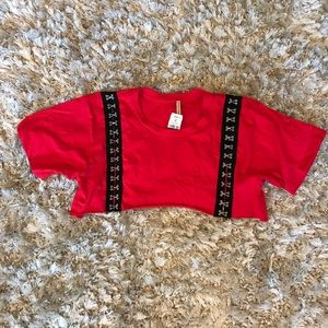 LF Emma and Sam Red Hook Eye Crop Top